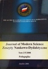 Okładka książki Journal of Modern Science. Zeszyty Naukowo- Dydaktyczne Tom 2/5/2008 Pedagogika