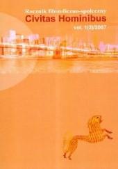 Okładka książki Civitas Hominibus Rocznik filozoficzno-społeczny 2007 praca zbiorowa