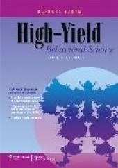 Okładka książki High-Yield Behavioral Science Barbara Fadem