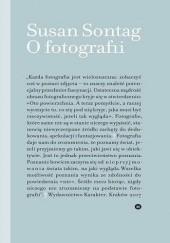 Okładka książki O fotografii Susan Sontag
