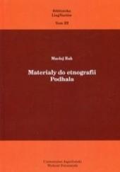 Okładka książki Materiały do etnografii Podhala Maciej Rak