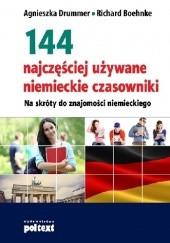 Okładka książki 144 najczęściej używane niemieckie czasowniki Agnieszka Drummer,Richard Boehnke