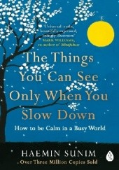 Okładka książki The things you can see only when you slow down Haemin Sunim