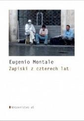 Okładka książki Zapiski z czterech lat Eugenio Montale