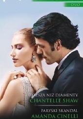 Okładka książki Droższa niż diamenty, Paryski skandal Chantelle Shaw,Amanda Cinelli