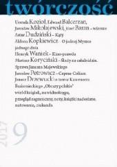 Okładka książki Twórczość nr 9 / 2017 Henryk Waniek,Jarosław Mikołajewski,Józef Baran,Urszula Kozioł,Redakcja miesięcznika Twórczość
