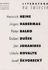 Okładka książki Literatura na świecie nr 7-8/2017 Josef Škvorecký,Heinrich Heine,Ján Johanides,Redakcja pisma Literatura na Świecie,Peter Balko
