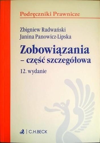 Okładka książki Zobowiązania - część szczegółowa Janina Panowicz-Lipska,Zbigniew Radwański