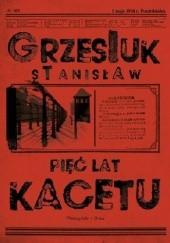 Okładka książki Pięć lat kacetu Stanisław Grzesiuk
