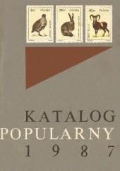 Okładka książki Katalog popularny znaczków pocztowych ziem polskich 1987