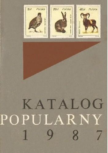 Okładka książki Katalog popularny znaczków pocztowych ziem polskich 1987 Wiesława Kawecka,praca zbiorowa