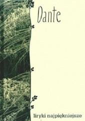 Okładka książki Dante. Liryki najpiękniejsze Dante Alighieri