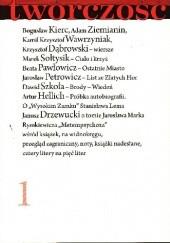 Okładka książki Twórczość nr 1 / 2018 Bogusław Kierc,Marek Sołtysik,Krzysztof Dąbrowski,Beata Pawłowicz,Adam Ziemianin,Redakcja miesięcznika Twórczość
