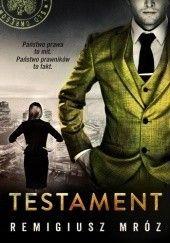 Okładka książki Testament Remigiusz Mróz