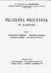 Okładka książki Filozofia wieczysta w zarysie. Tom I Franciszek X. Kwiatkowski TJ
