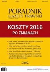 Okładka książki Koszty 2016 po zmianach Tomasz Krywan