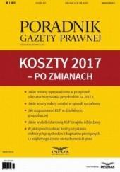 Okładka książki PGP 1/2017 Koszty 2017  po zmianach Tomasz Krywan