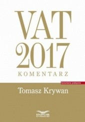 Okładka książki VAT 2017. Komentarz Tomasz Krywan