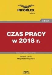 Okładka książki Czas pracy w 2018 r Pl Infor