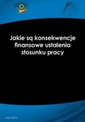 Okładka książki Jakie są konsekwencje finansowe ustalenia stosunku pracy Rafał Krawczyk