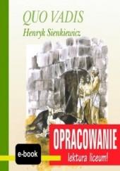 Okładka książki Quo Vadis (Henryk Sienkiewicz) - opracowanie I. Kordela Andrzej,Bodych M.
