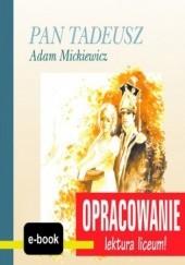 Okładka książki Pan Tadeusz (Adam Mickiewicz) - opracowanie I. Kordela Andrzej,Bodych M.