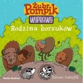 Okładka książki Żubr Pompik. Wyprawy. Rodzina borsuków Tomasz Samojlik