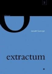 Okładka książki extractum Leszek Szaruga