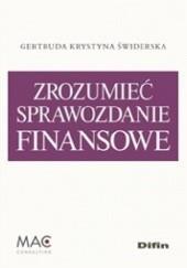 Okładka książki Zrozumieć sprawozdanie finansowe Gertruda Krystyna Świderska