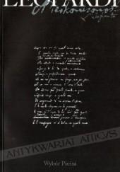 Okładka książki Nieskończoność. Wybór pieśni Giacomo Leopardi