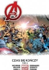 Okładka książki Avengers: Czas się kończy. Tom 2 Mike Deodato Jr.,Stefano Caselli,Szymon Kudrański,Jonathan Hickman,Kev Walker,Mike Perkins