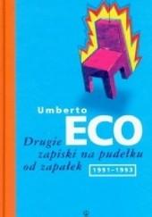 Okładka książki Drugie zapiski na pudełku od zapałek Umberto Eco