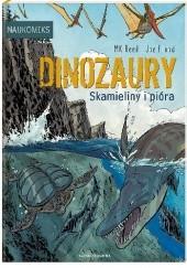 Okładka książki Dinozaury – skamieliny i pióra M.K. Reed,Joe Flood