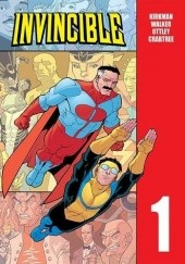 Okładka książki Invincible. Tom 1 Robert Kirkman, Cliff Rathburn, Matt Roberts, Dave Johnson, Cory Walker, Ryan Ottley, Mark Englert, Terry Stevens