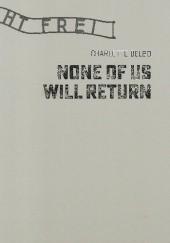 Okładka książki None of us will return