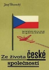 Okładka książki Ze života české společnosti Josef Škvorecký