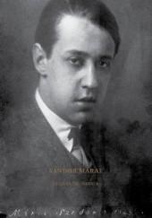 Okładka książki Marai. Książka do pisania Sándor Márai