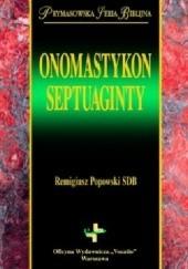 Okładka książki Onomastykon Septuaginty Remigiusz Popowski