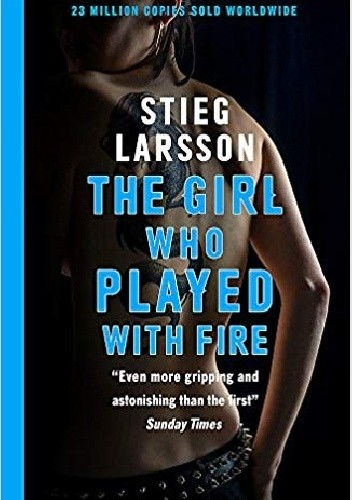 Okładka książki The girl who played with fire Stieg Larsson