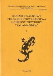 """Okładka książki Rocznik Naukowy Polskiego Towarzystwa Ochrony Przyrody """"Salamandra"""" I"""