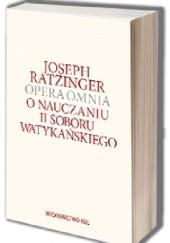 Okładka książki O nauczaniu II Soboru Watykańskiego Benedykt XVI