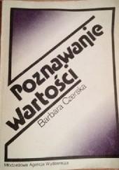 Okładka książki Poznawanie wartości Barbara Czerska
