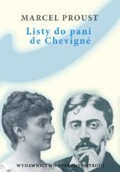 Okładka książki Listy do pani de Chevigné Marcel Proust