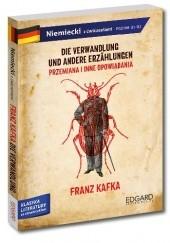 Okładka książki Przemiana i inne opowiadania/Die Verwandlung und andere Erzählungen - adaptacja klasyki z ćwiczeniami - język niemiecki Franz Kafka