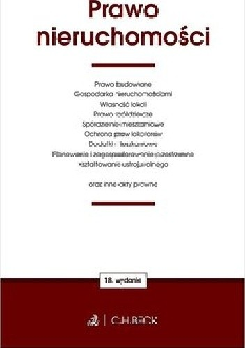 Okładka książki Prawo nieruchomości oraz ustawy towarzyszące praca zbiorowa