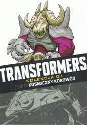 Okładka książki Transformers #12: Kosmiczny korowód Simon Furman,Bob Budiansky,Frank Springer,José Delbo,Ian Rimmer,Lee Sullivan,Jeff Anderson