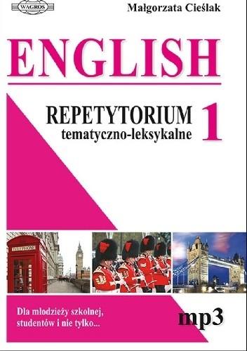 Okładka książki English 1. Repetytorium tematyczno-leksykalne Małgorzata Cieślak