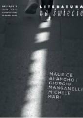 Okładka książki Literatura na Świecie nr 7-8/2019 [576-577] Maurice Blanchot,Redakcja pisma Literatura na Świecie,Giorgio Manganelli,Michele Mari