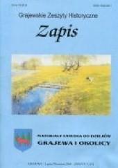 Okładka książki Zapis. Materiały i studia do dziejów Grajewa i okolicy. Zeszyt 3 (15)
