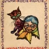 Okładka książki O skąpym Bartoszu, sprytnym kocie Filucie i babcinych okularach